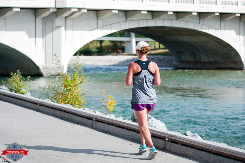 Woman girl running run runner jogging fitness fit bow river yyc street - Rob Moses Photography - Native American Alaskan Famous Tlingit - Seattle Top Vancouver Photographer Popular Photographers-2