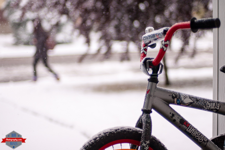 YYC bike bokeh winter snow frost in summer 2014 - Rob Moses Photography - Native American Alaskan Famous Tlingit - Seattle Top Vancouver Photographer Popular Photographers