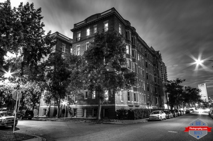 YYC brick pre war apartment building condos black white - Rob Moses Photography - Vancouver Seattle Calgary Photographer Photographers Native American Famous Tlingit Ojibawa Top Popular Best Good Canadian Awesome Lifestyle