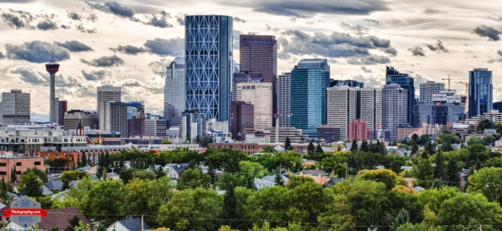 YYC Skyline urban big city buildings stormy clouds Alberta Canada - Rob Moses Photography - Native American Alaskan Famous Tlingit - Seattle Top Vancouver Photographer Popular Photographers