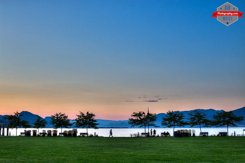 Blog Penticton BC sunset lake beach Okanagan park people walking beautiful landscape - Rob Moses Photography - Vancouver Seattle Calgary Photographer Photographers Native American Famous Tlingit Ojibawa Top Popular Best Good Canadian Awesome Lifestyle