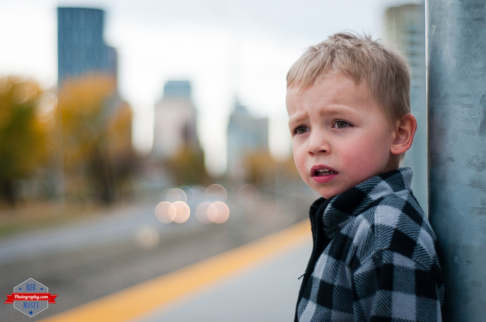 Cute Child boy modeling model yyc subway LRT waiting bokeh - Rob Moses Photography - Vancouver Seattle Calgary Photographer Photographers Native American Famous Tlingit Ojibawa Top Popular Best Good Canadian Awesome Lifestyle