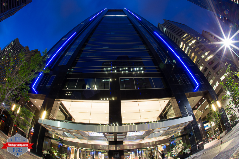 Blog Downtown Calgary building Canon fisheye 15mm night sky yyc alberta canada - Rob Moses Photography -Calgary Photographer Photographers Native American Famous Tlingit Ojibawa Top Popular Best Good Canadian Awesome Lifestyle