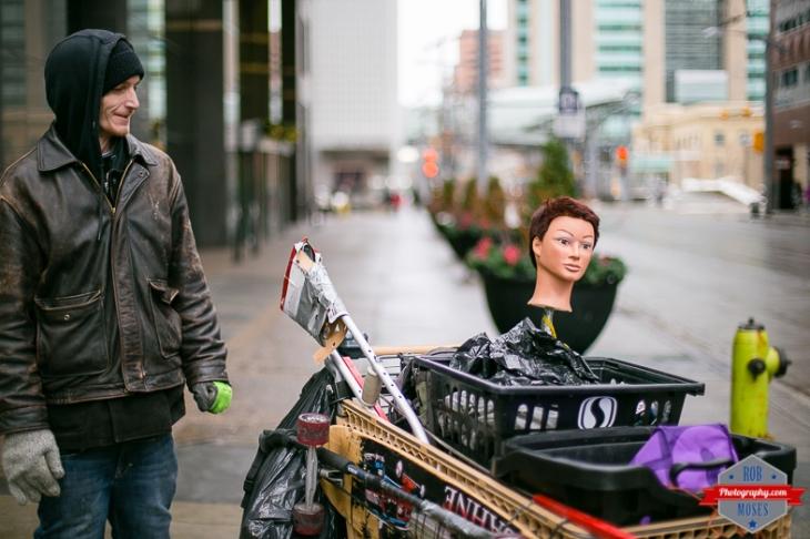 Blog Calgary homeless shopping cart mannequin manikin head winter bokeh yyc - Rob Moses Photography - World Famous Un Celebrity - Seattle Top Vancouver Photographer Popular Photographers