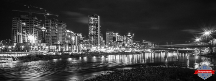 blog T YYC city skyline B&W Bow river uban - Rob Moses Photography Calgary Photographer Photographers Native American Famous un celebrity Tlingit Ojibawa Top Popular Best Good Canadian