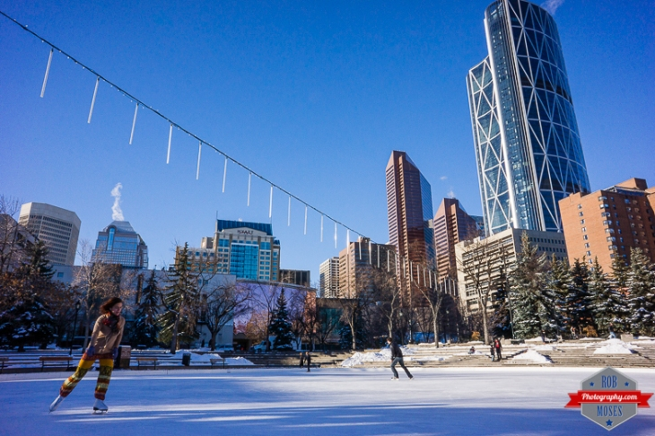 Blog YYC Olympic Plaza public city ice ring skating downtown buildings urban metro alberta canada - Rob Moses Photography -Calgary Photographer Photographers Native American Famous Tlingit Ojibawa Top Popular Best Good Canadian Awesome Lifestyle