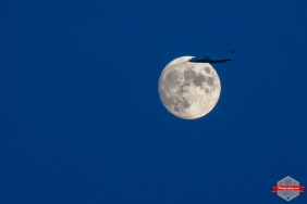YYC Canada Moon Privet Jet plane flying popular sky - Rob Moses Photography -Calgary Photographer Photographers Native American Famous Tlingit Ojibawa Top Popular Best Good Canadian Awesome Lifestyle