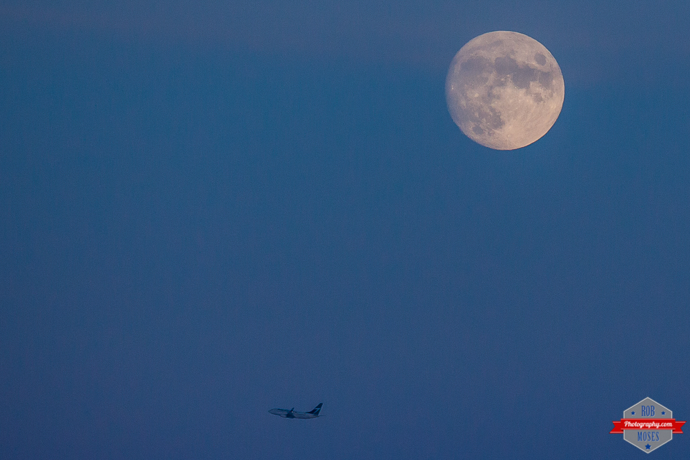 YYC Space Canada Moon Westjet Jet plane flying popular sky - Rob Moses Photography -Calgary Photographer Photographers Native American Famous Tlingit Ojibawa Top Popular Best Good Canadian Awesome Lifestyle