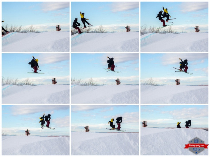 Freestyle filming sequence extreme ski skiing skier jump aerial COP Alberta YYC Winsport Rob Moses Photography Calgary Photographer Photographers Native American Famous un celebrity Tlingit Ojibawa Top Popular Best Good Canadian 1