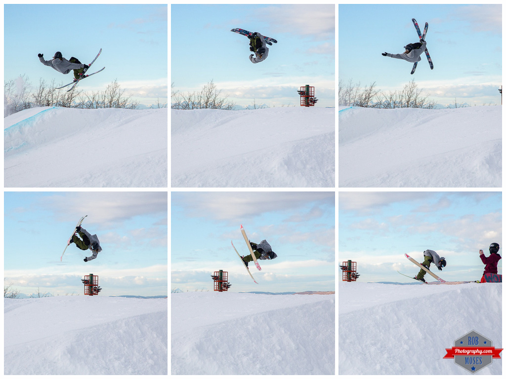 Freestyle sequence extreme flip ski skiing skier jump aerial COP Alberta YYC Winsport Rob Moses Photography Calgary Photographer Photographers Native American Famous un celebrity Tlingit Ojibawa Top Popular Best Good Canadian 2 1