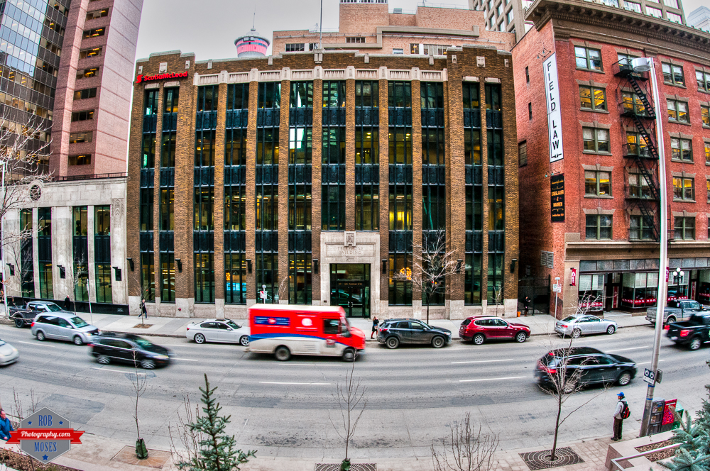 YYC Sigma Fisheye D300s buildings street winter old tower urban Rob Moses Photography Calgary Photographer Photographers Native American Famous un celebrity Tlingit Ojibawa Top Popular Best Good Canadian