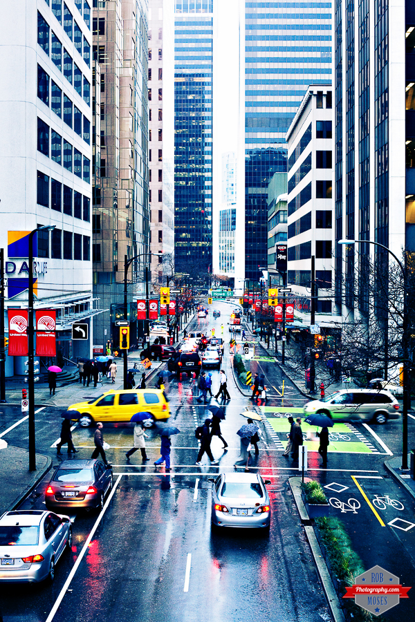 Vancouver Van City urban metro busy rain raining street beautiful buildings Rob Moses Photography Calgary Photographer Photographers Native American Famous un celebrity Tlingit Ojibawa Top Popular Best Good Canadian