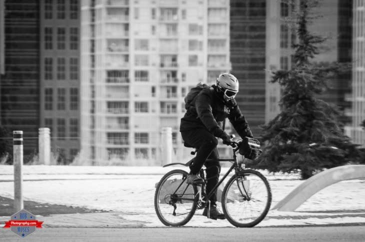 YYC Cycling biking winter man goggles urban city Rob Moses Photography Calgary Photographer Photographers Native American Famous un celebrity Tlingit Ojibawa Top Popular Best Good Canadian
