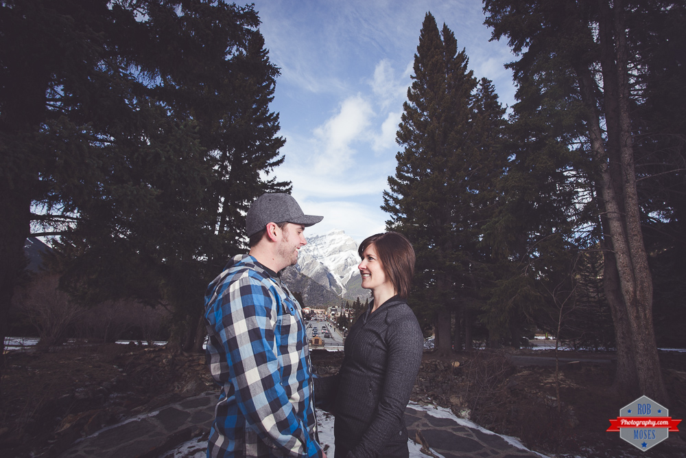 Ryan Kelsey couple portrait Banff  Rocky Mountains - Rob Moses Photography Calgary Photographer Photographers Native American Famous un celebrity Tlingit Ojibawa Top Popular Best Good Canadian