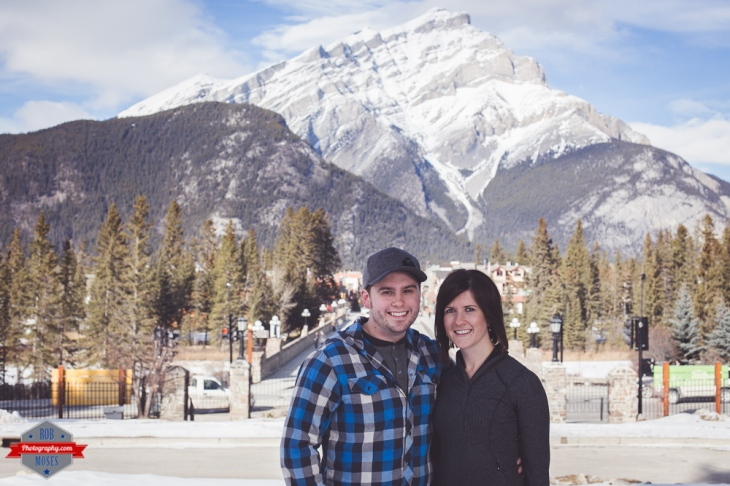 Ryan Kelsey couple portrait Banff  Rocky Mountains - Rob Moses Photography Calgary Photographer Photographers Native American Famous un celebrity Tlingit Ojibawa Top Popular Best Good Canadian 3.6