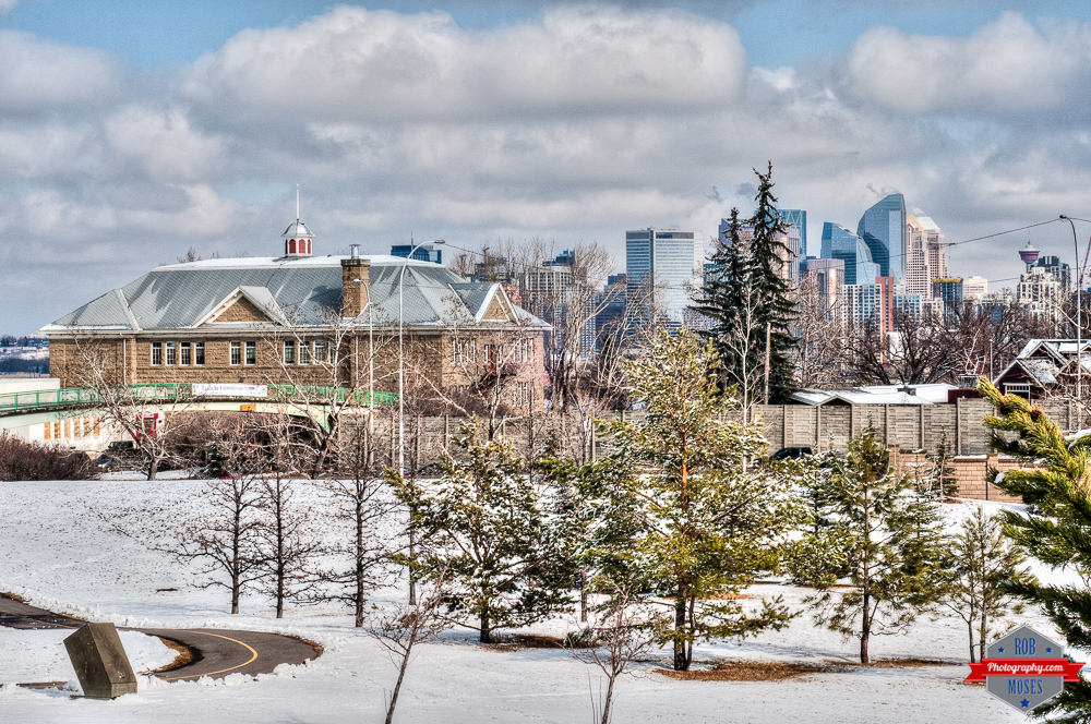 Sandstone school old scarborogh hill yyc skyline winter Rob Moses Photography Calgary Photographer Photographers Native American Famous un celebrity Tlingit Ojibawa Top Popular Best Good Canadian sky Nikon 50mm