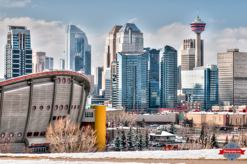 YYC Beautiful Skyline Saddledome urban city tower life sky Rob Moses Photography Calgary Photographer Photographers Native American Famous un celebrity Tlingit Ojibawa Top Popular Best Good Canadian 2015