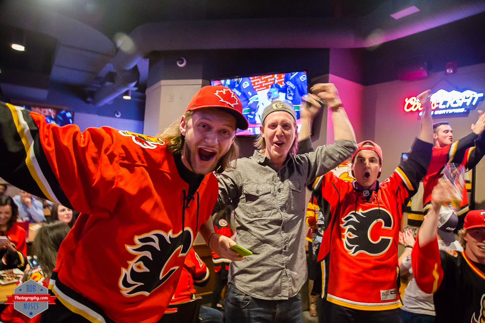 Flames fans win cheering yyc red mile Rob Moses Photography Calgary Photographer Photographers Native American Famous un celebrity Tlingit Ojibawa Top Popular Best Good Canadian-2