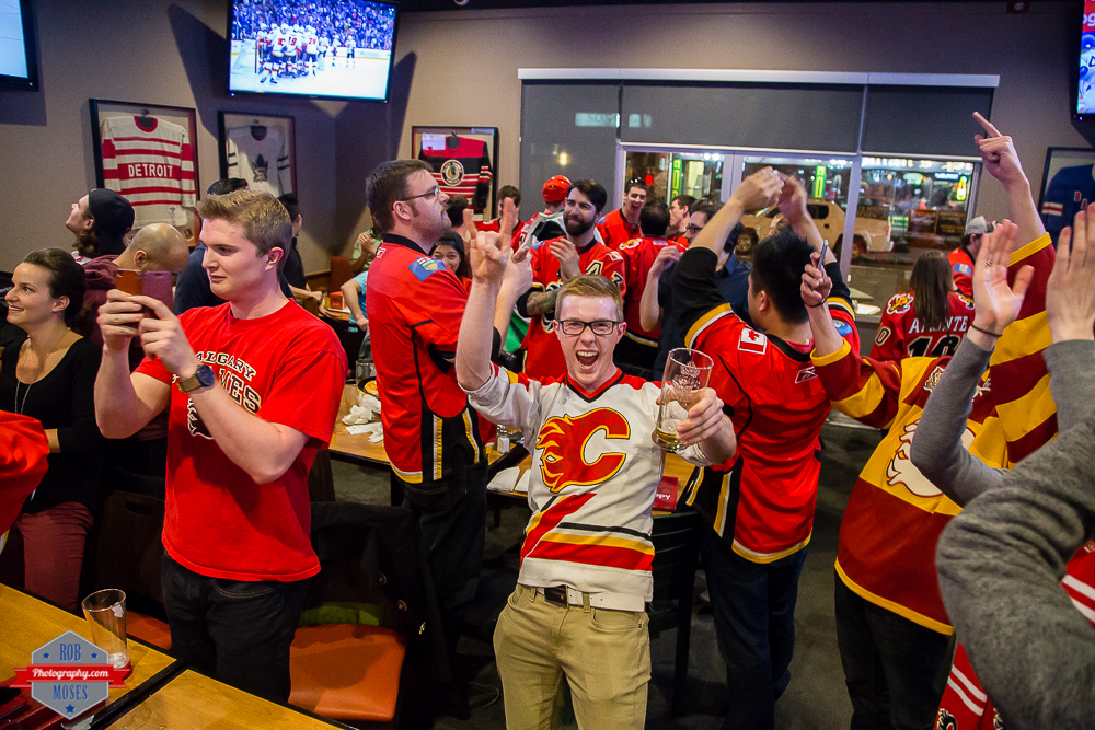 Flames fans win cheering yyc red mile Rob Moses Photography Calgary Photographer Photographers Native American Famous un celebrity Tlingit Ojibawa Top Popular Best Good Canadian-3