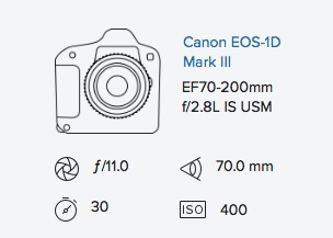 Canon 1D mark iii 70-200mm f2.8 IS exif data Rob Moses Photography
