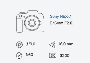 Sony NEX-7 16mm exif data Rob Moses