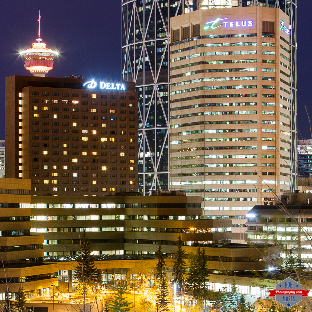 YYC city night delta Telus tower urban lights Rob Moses Photography Calgary Photographer Photographers Native American Famous un celebrity Tlingit Ojibawa Top Popular Best Good Canadian