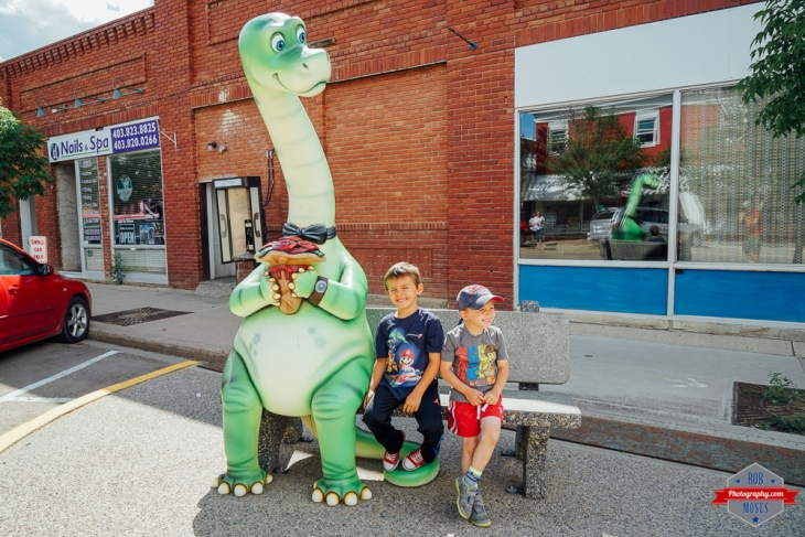 Drumheller Dinosaur Fun kids boys Rob Moses Photography Calgary Photographer Photographers Native American Famous un celebrity Tlingit Ojibawa Top Popular Best Good Canadian