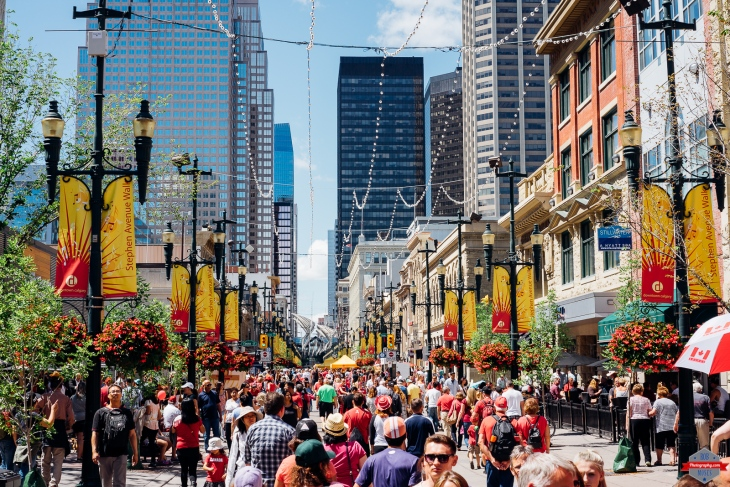 Stephen Ave YYC Canada Day 2015 crowd people street Rob Moses Photography Calgary Photographer Photographers Native American Famous un celebrity Tlingit Ojibawa Top Popular Best Good Canadian