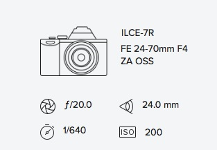 exif data sony a7r 24-70mm rob moses