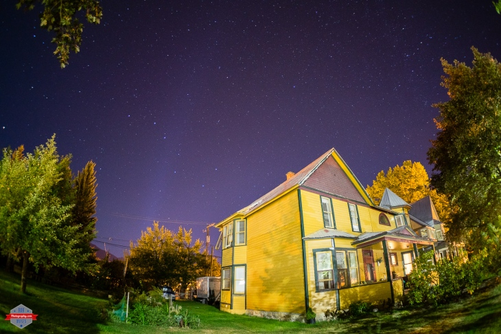 Revelstoke British Columbia BC night sky stars house Rob Moses Photography Calgary Photographer Photographers Native American Famous un celebrity Tlingit Ojibawa Top Popular Best Good Canadian