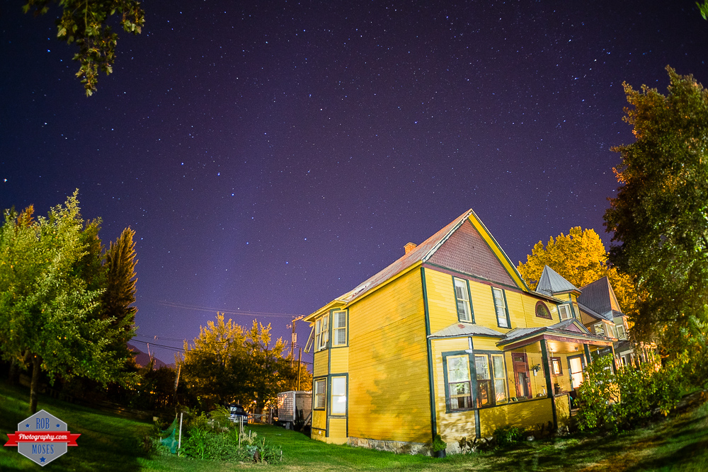 Revelstoke British Columbia BC night sky stars house Rob Moses Photography Calgary Photographer Photographers Native American Famous un celebrity Tlingit Ojibawa Top Popular Best Good Canadian a7R fisheye
