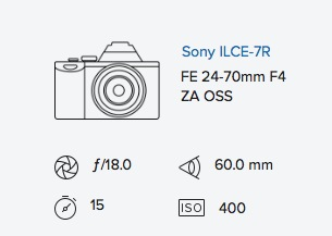 Sony a7R 24-70mm exif data rob moses