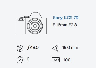 exif data rob moses sony a7r 16mm fisheye converter