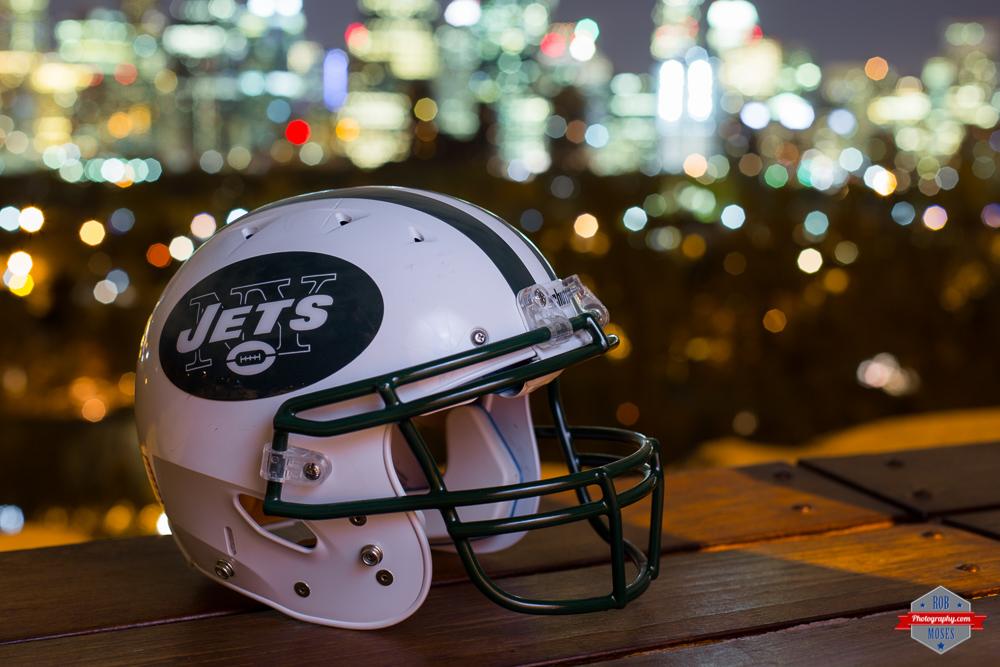 New York Jets NY DIY football helmet skyline bokeh NFL Rob Moses Photography Calgary Photographer Photographers Native American Famous un celebrity Tlingit Ojibawa Top Popular Best Good Canadian homemade knockoff