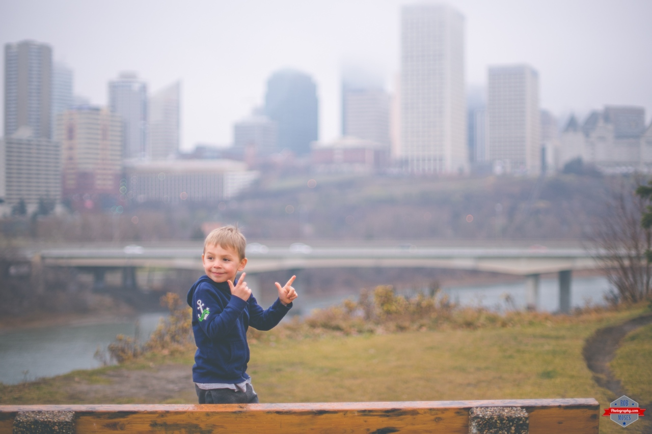 Cameron Moses Child boy kid Edmonton Skyline foggy 007 Rob Moses Photography Calgary Vancouver Seattle Spokane WA BC Native American Tlingit Ojibaway famous un celebrity Canadian best-2