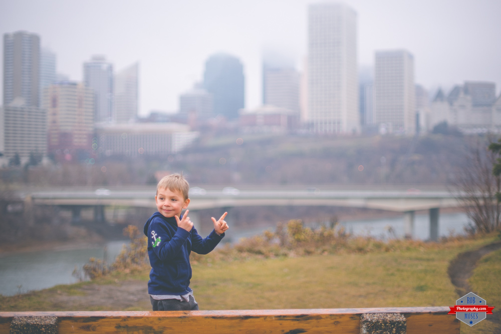 Cameron Moses Child boy kid Edmonton Skyline foggy 007 Rob Moses Photography Calgary Vancouver Seattle Spokane WA BC Native American Tlingit Ojibaway famous un celebrity Canadian best