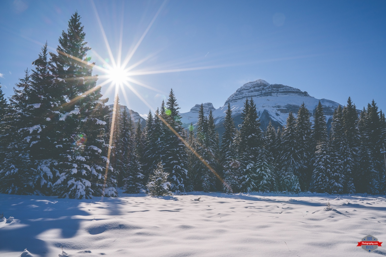 Rocky Mountains Rockies winter snow nature landscape sun sky Rob Moses Photography Calgary Vancouver Seattle Spokane Photographer WA BC Native American Tlingit Ojibaway famous un celebrity Canadian best -