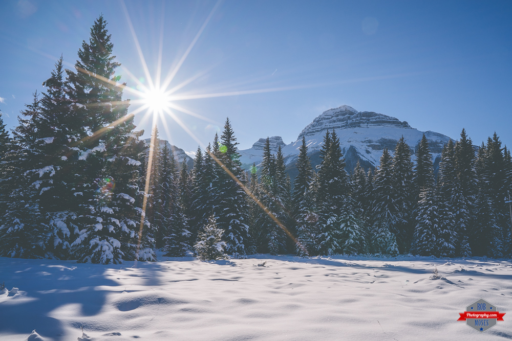 Rocky Mountains Rockies winter snow nature landscape sun sky Rob Moses Photography Calgary Vancouver Seattle Spokane Photographer WA BC Native American Tlingit Ojibaway famous un celebrity Canadian best