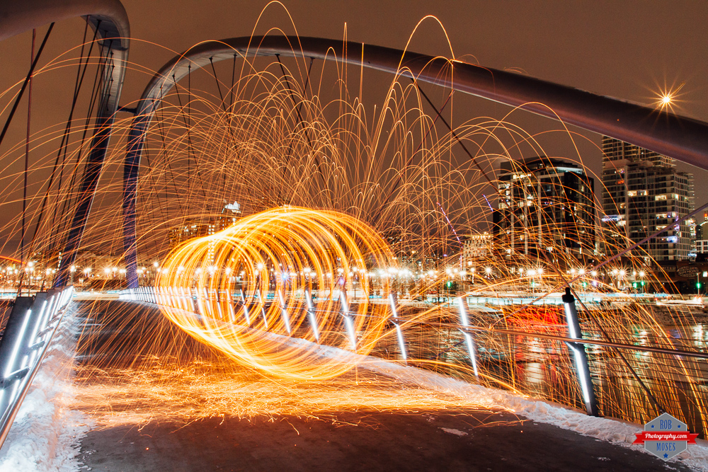 Steel wool skipping stone east village yyc fire Rob Moses Photography Calgary Vancouver Seattle Spokane Photographer WA BC Native American Tlingit Ojibaway famous un celebrity Canadian best