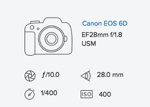 exif data rob moses canon 6D 28mm 1.8