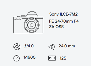 sony a7ii 24-70mm exif data rob moses