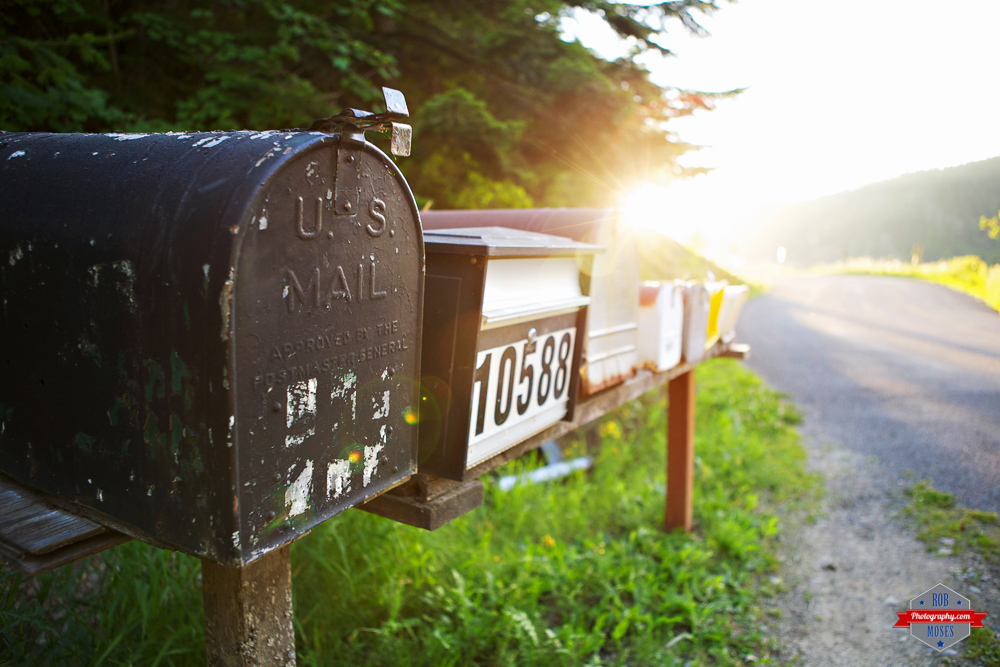 US Mail Idaho sunset country flare - Rob Moses Photography Calgary Vancouver Seattle Spokane Photographer WA BC Native American Tlingit Ojibaway famous un celebrity Canadian best
