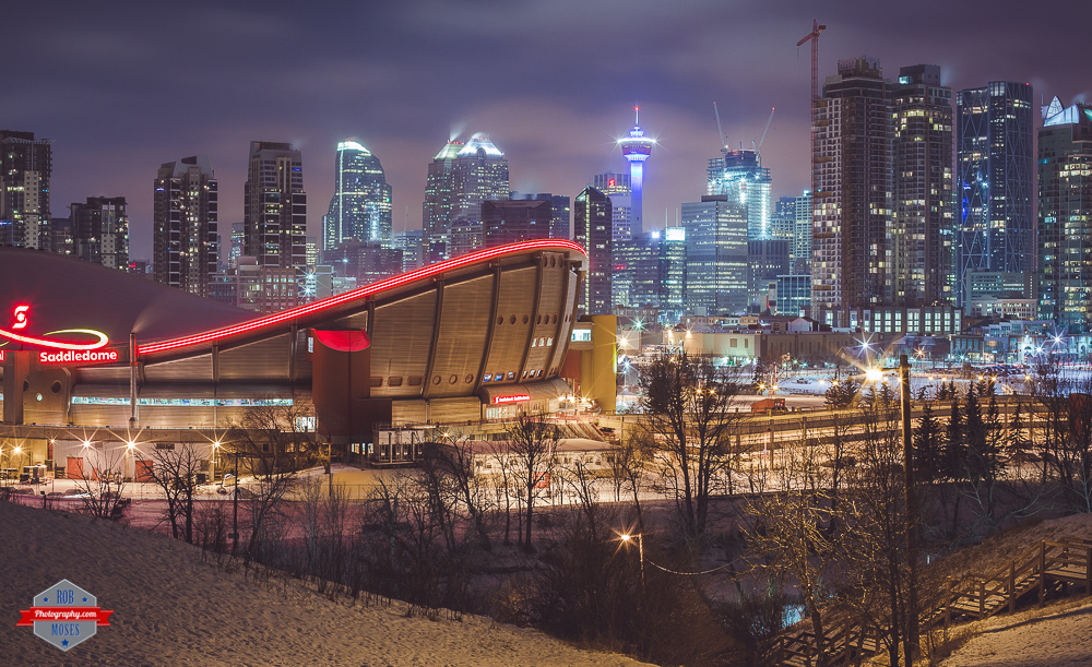 YYC skyline city urban saddledom buildings winter Rob Moses Photography Calgary Vancouver Seattle Spokane Photographer WA BC Native American Tlingit Ojibaway famous un celebrity Canadian best