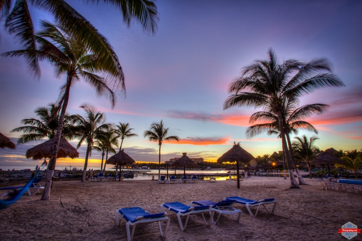 Beautiful amazing sunset playa del carmen Puerto Aventuras beach landscape palm trees Rob Moses Photography Calgary Photographer Photographers Native American Famous un celebrity Tlingit Ojibawa Top Popular Best Good Canadian pretty Caribbean Sea -