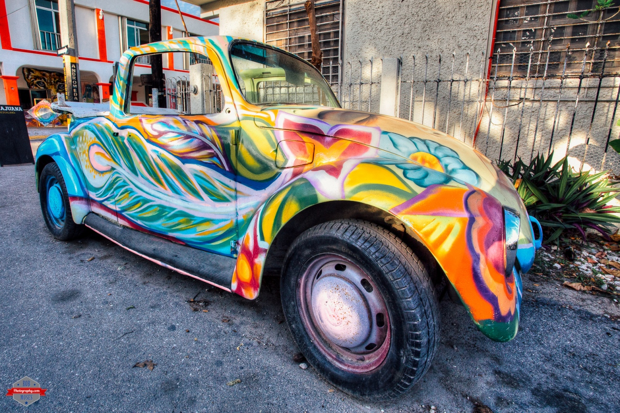 VW volkswagen bug convertable crazy psychedelic paint job Rob Moses Photography Calgary Photographer Photographers Native American Famous un celebrity Tlingit Ojibawa Top Popular Best Good Canadian -