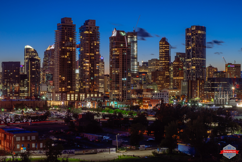 YYC skyline night big buildings Rob Moses Photography Portland Calgary Vancouver Seattle Spokane Photographer WA BC Native American Tlingit Ojibaway famous un celebrity Canadian best pdx