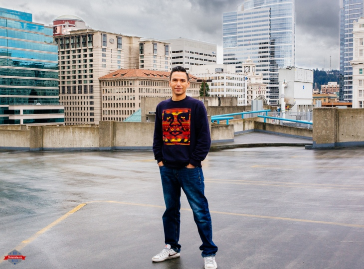 man-dude-parking-garage-pdx-rob-moses-photography-portland-calgary-vancouver-seattle-spokane-photographer-wa-bc-native-american-tlingit-ojibaway-famous-un-celebrity-canadian-best-pdx-3