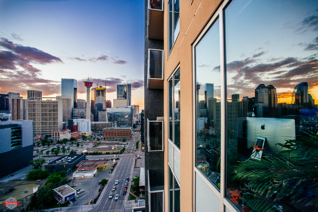 Calgary Alberta Canada city skyline sunset reflection - Rob Moses Photography YYC Native American Photographer.jpg